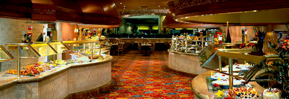 The buffet at Beau Rivage